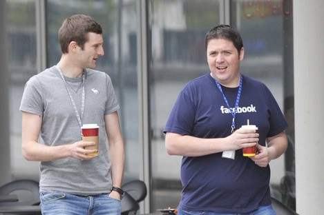 Facebook staff at the Facebook Headquarter at Grand Canal Dock in Dublin. (File)