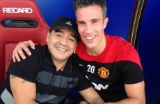 Sign him up, Moyesie! Maradona shows up at Man United's Dubai training camp