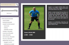 'Comedians' website advertises Howard Webb for motivational speaking