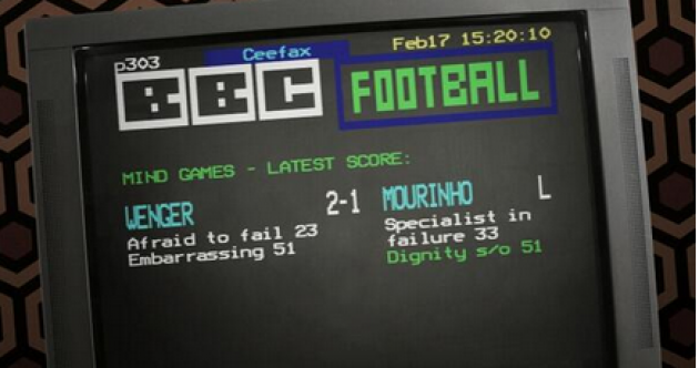 This brilliant Mourinho-Wenger parody will make you nostalgic for the days of Ceefax