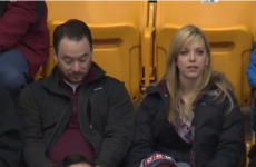 Genius finds excellent way to avoid kiss cam at basketball game