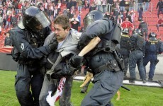 WATCH: Czech cup game called off amid fan mayhem