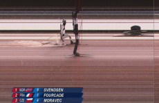 The finish in the men's biathlon couldn't have been much closer