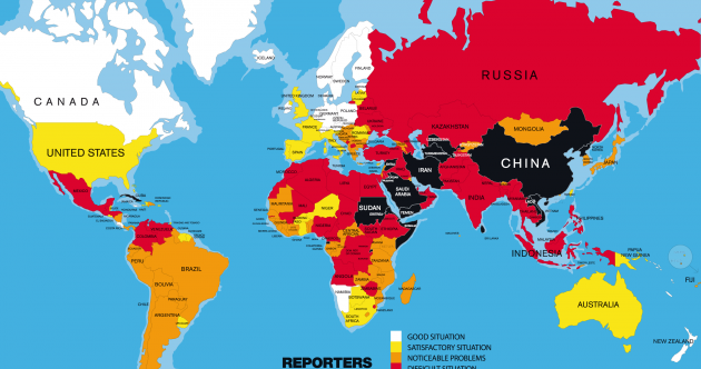 Guess where Ireland ranks in the world in terms of press freedom...