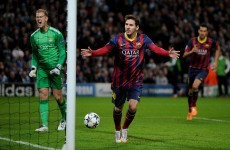 Barcelona edge towards last eight after 1st leg win over City