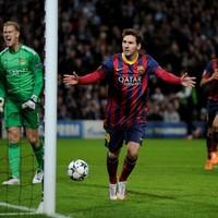 Barcelona edge towards last eight after 1st leg win over City