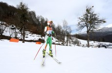 Conor Lyne crashes out of Giant Slalom competition