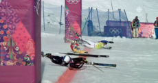 Olympic ski race ends in insane crash at the finish line, three-way photo finish