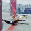 Olympic ski race ends in insane crash at the finish line, three-way photo finish