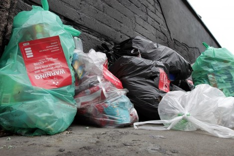 Illegal rubbish dumping in Dublin.