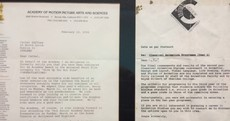 The Oscar nomination letter that shows you should never worry about failure