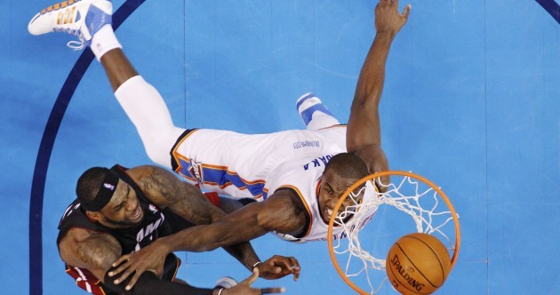 LeBron bloodied but unbeaten as Heat rip Thunder in big, big win