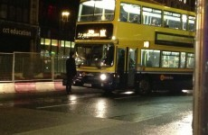 Did a furious pedestrian stare down a Dublin Bus for 20 minutes last night?