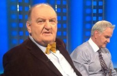 George Hook has his good dickie-bow out for the big match. Seriously.