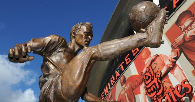 Arsenal immortalise the great Dennis Bergkamp with this statue outside the Emirates