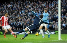 Dzeko throws his hat in the ring for miss of the season as City battle past Stoke