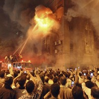 At least nine dead following religious clashes outside Egyptian church