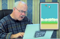 Older people play Flappy Bird on camera and react hilariously