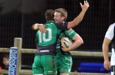 Connacht secure bonus point win against fellow Pro12 strugglers Zebre