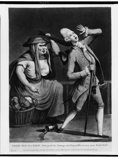 Hilarious old British print shows just what our Irish women were made of