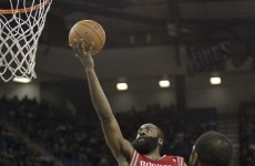 Mutual respect for basketball (and beards) earned James Harden a fist-bump from a rival fan last night