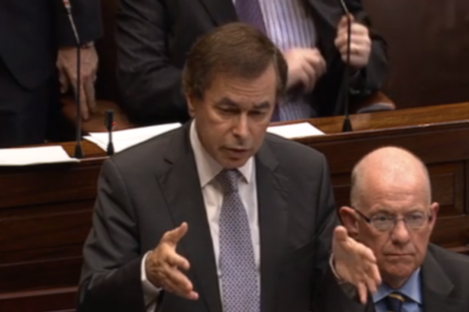 Alan Shatter in the Dáil this evening