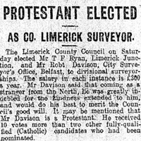 'Protestant Elected': This Irish headline from 100 years ago is really something