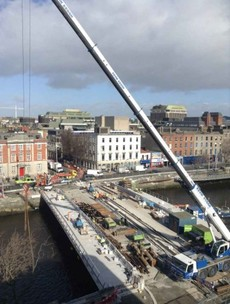 The Rosie Hackett LUAS bridge will open on 20 May