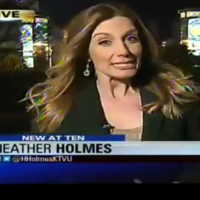 Watch in horror as reporter swallows her own snot live on air