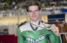 Silver medal for Martyn Irvine at Track Cycling World Championships