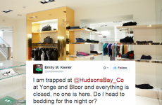 A woman got locked inside a department store and live-tweeted her experience
