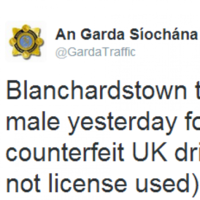 @GardaTraffic's update about a fake driving licence arrest is gas