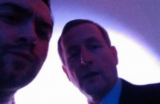 This lad took a selfie with Enda Kenny