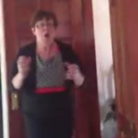 Irish mam loses the head at son's surprise arrival home