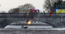 Brave fireman jumps off bridge to save drowning woman in Limerick