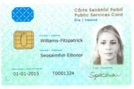 An example of one identity cards.