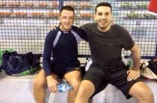 Tipperary hurler teams up with Man City chairman Khaldoon Al Mubarak for soccer match