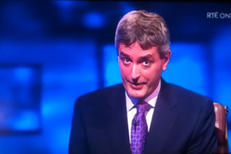 David McCullagh bore the brunt of this evening's glitch.