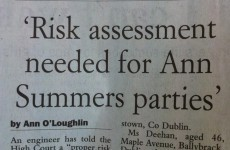 The Irish Examiner has the most 'careful now' headline of the day
