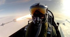 This F-16 pilot took the ultimate selfie while firing a Sidewinder missile