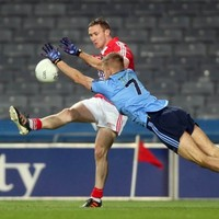This umpire wasn't happy with John Hayes pointing for Cork against Dublin last Saturday