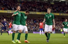 Here's the Shane Long goal that opened the scoring for Ireland tonight