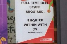 Owner apologises after Spar posts 'female only' job ad
