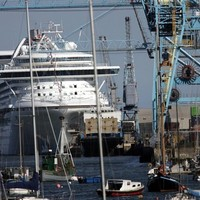 All change: Cruise ships on the way to Dublin Port