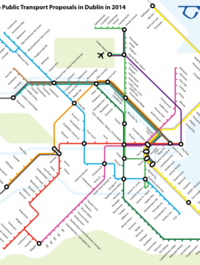 London Tube-style map shows how Dublin public transport will link up
