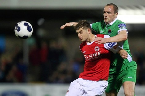 St Patrick's Athletic midfielder Greg Bolger was excellent on Friday night.