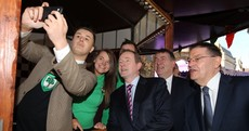 Enda Kenny enjoys a couple of selfies and some Irish Coffee in Manchester