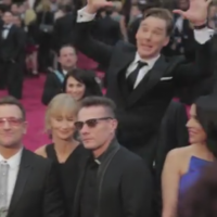 Amazing video of Benedict Cumberbatch plotting his Oscars photobomb