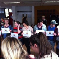 Gardaí called as students protest at NUIG over same-sex marriage referendum
