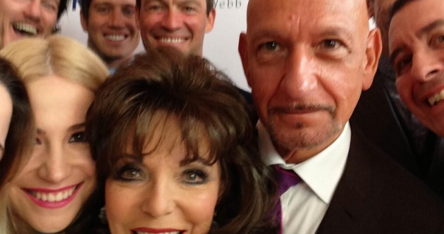 Joan Collins took her own celebrity selfie to rival Ellen's record-breaking shot